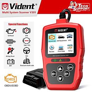 cheap OBD-Vident V301 Car Diagnostic Scanner OBD2 Diagnostic Tool for VW Audi Skoda Seat OBD2 Automotive Scanner OBD Code Reader