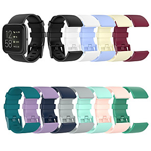 cheap Smartwatch Bands-Watch Band for Fitbit Versa / Fitbi Versa Lite / Fitbit Versa 2 Fitbit Classic Buckle Silicone Wrist Strap