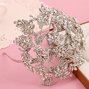 cheap Clutches & Evening Bags-Alloy Headpiece with Rhinestone 1 Piece Wedding Headpiece