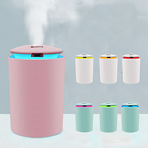 cheap Humidifiers-260ML Essential Air Aroma Oil Diffuser USB Humidifier Ultrasonic Air Humidifier With LED Night Lamp Electric Aromatherapy