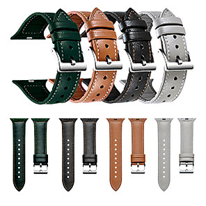 cheap Smartwatch Bands-Leather Silicone Leather Strap For Apple watch Iwatch Multicolor Strap 38/40mm 42/44mm