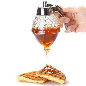 cheap Bathroom Gadgets-Juice Syrup Cup Bee Drip Dispenser Portable 200ml Honey Syrup Dispenser Pot Honeycomb Bottle Honey Squeeze Dispenser