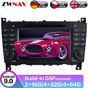 cheap Car DVD Players-ZWNAV 8inch 2din DSP 4GB 64G Android 9 Car DVD Player GPS navigation auto car Multimedia Player Car MP5 Player radio tape recorder For Benz C-Class W203 2004-2007
