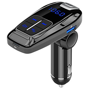 cheap Bluetooth Car Kit/Hands-free-FM Transmitter Modulator Bluetooth 5.0 Handsfree Car Kit Audio MP3 Player With QC3.0 QC4.0 5A Fast Car Auto Charger Wireless Audio Adapter and Receiver PD18W