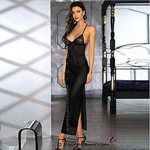 cheap Women's Heels-Women's Backless Babydoll & Slips Nightwear Solid Colored Black One-Size