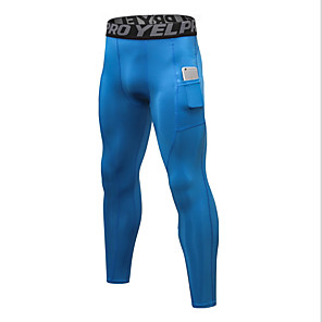 cheap Wetsuits, Diving Suits & Rash Guard Shirts-Compression Gym Men's Normal Polyester Sexy Long Johns Solid Colored Mid Waist