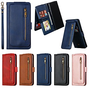 cheap Samsung Case-Case For Samsung Galaxy Note 10 Plus / Note 9/  M10 Wallet / Card Holder / Shockproof Full Body Cases Solid Colored PU Leather Case For Samsung Galaxy Note 10 / Note 8