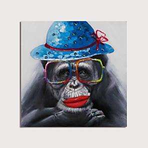 povoljno Slike sa životinjskim motivima-ručno oslikana platna uljem apstraktna životinja nožem ukrašavanje doma s okvirom slika spremna za vješanje
