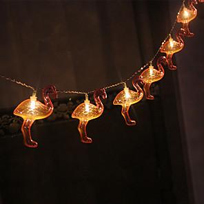 cheap LED String Lights-LED Battery Light Christmas Pink Flamingo Light String Ins Girl Heart Birthday Interior Decoration Lantern