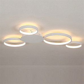 cheap Ceiling Lights-4-Light 80 cm Cluster Design Circle Design Flush Mount Lights Aluminum Silica gel Painted Finishes LED Modern 110-120V 220-240V