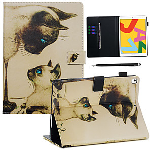 cheap iPad case-Case&Stylus pen For Apple iPad Pro 10.5 / Ipad air3 10.5' 2019  with Stand / Flip Back Cover Cat PU Leather