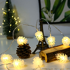 cheap LED String Lights-LED Pine Cone Light String Battery Small Lantern New Year Christmas Lighting Ins String Lights Wedding Festival Decoration Lights