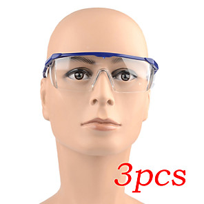 cheap Protective Gear-3PCS Safety Glasses Protective Transparent Glasses Eyes Protection Anti dust Saliva Goggles Outdoor Safety Equipment