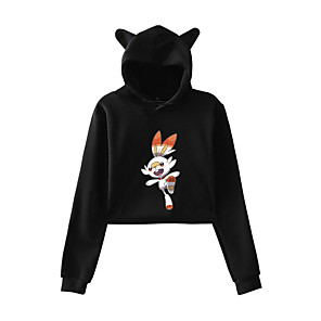 cheap Anime Costumes-Inspired by Cosplay PIKA PIKA Cosplay Costume Hoodie Pure Cotton Print Printing Hoodie For Men's / Women's