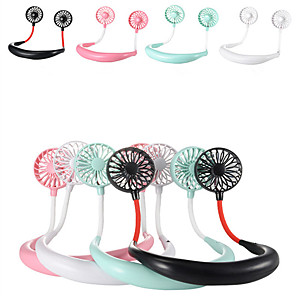 cheap Household Appliances-1200 mA  USB Portable Fan Hands-free Neck Fan Hanging Rechargeable Mini Sports Fans 3 gears Air Conditioner Adjustable Home