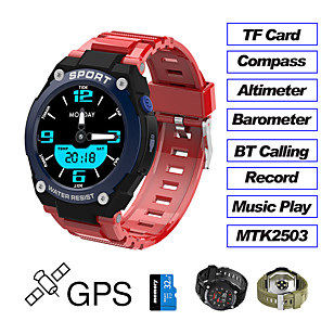 cheap Smartwatches-DT97 Fitness Tracker Built-in GPS for IOS/ Android Phones, Full Round-screen Smartwatch Support TF-card/ Sport modes