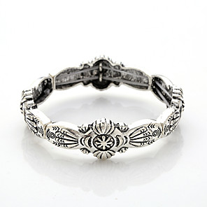 cheap Hair Jewelry-Bracelet Bangles Vintage Bracelet Bracelet Vintage Style Totem Series Vintage Theme Stylish Vintage Casual / Sporty Rock Ethnic Silver Plated Bracelet Jewelry Silver For Sport Formal Prom Date