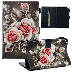 cheap Samsung Case-Case & Pen For Samsung Galaxy Samsung Tab A 8.0(2019)/ E 8.0 /A 7.0 / A8(2019)P200/205 Dustproof / with Stand / Flip Back Cover Rose PU Leather