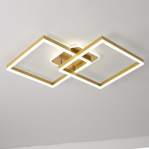 cheap Flush Mounts & Semi Flush Mounts-90 cm Geometric Shapes Flush Mount Lights Aluminum Painted Finishes Artistic / LED 110-120V / 220-240V