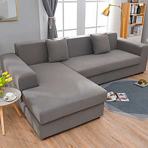 cheap Sofa Cover-Simple Solid Color Elastic Sofa Cover Full Package Single Double Three Person Sofa Cover Multi Color