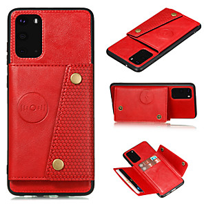 cheap Samsung Case-Case for Samsung scene map S20 S20 Ultra S20 Plus A51 A71 veneer double buckle solid color simple veneer card holder all-inclusive drop-proof mobile phone case Xunlilai