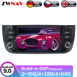 cheap Car DVD Players-ZWNAV 6.2inch 1din IPS DSP 4G 64GB Autoradio Android 9.0 Car DVD Player Car Multimedia Player GPS Navigation Stereo For Fiat/Linea/Punto evo 2012-2015