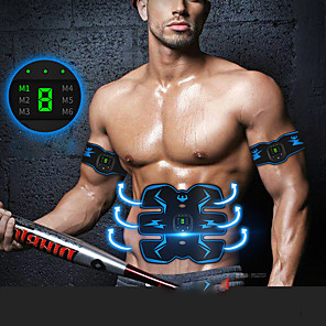 cheap Fitness Gear & Accessories-Abs Stimulator Abdominal Toning Belt EMS Abs Trainer Sports Silicon PU(Polyurethane) Exercise & Fitness Gym Workout Smart Electronic Muscle Toner Muscle Toning Tummy Fat Burner For Men Women