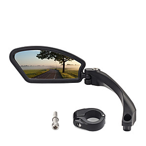 cheap Protective Gear-Bike Mirror Adjustable Easy to Install Safety Cycling Bicycle motorcycle Bike ABS+PC Black Dark Black Mountain Bike MTB