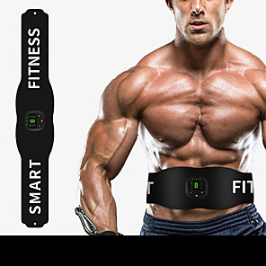 cheap Fitness Gear & Accessories-Abs Stimulator Abdominal Toning Belt EMS Abs Trainer Sports Silicon Exercise & Fitness Gym Workout Smart Electronic Muscle Toner Muscle Toning Tummy Fat Burner For Men Women