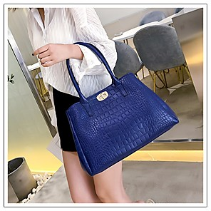 cheap Handbag & Totes-Women's PU Top Handle Bag Solid Color 5 Pieces Purse Set Red / Blue / Black