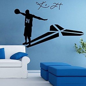 cheap Wall Stickers-Kobe Shapes Wall Stickers Plane Wall Stickers Decorative Wall Stickers, PVC Home Decoration Wall Decal Wall Decoration 1pc