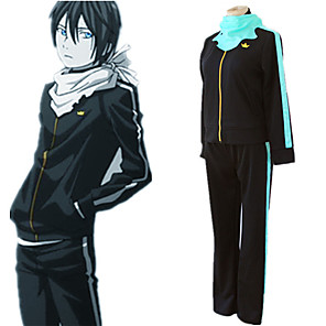 cheap Anime Costumes-Inspired by Noragami Yato Anime Cosplay Costumes Japanese Cosplay Suits Top Pants Scarf For Men's Women's