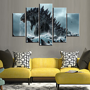 cheap Prints-5 Panels Modern Canvas Prints Painting Home Decor Artwork Pictures DecorPrint Rolled Stretched Modern Art Prints Animals Abstract