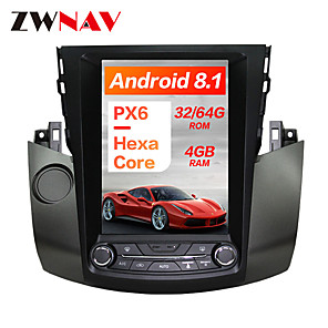 cheap Car DVD Players-ZWNAV 10.4Iinch 1DIN Android 8.1 Tesla Style 4GB 64GB Car MP5 Player Car GPS navigation Car multimedia player For Toyota RAV4 2006-2012