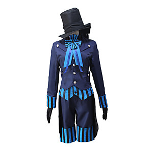 cheap Movie & TV Theme Costumes-Inspired by Black Butler Ciel Phantomhive Anime Cosplay Costumes Japanese Cosplay Suits Coat Vest Gloves For Men's Women's / Shorts / Cap / Bow Tie