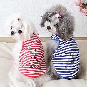cheap Dog Clothes-Dog Costume Vest Dog Clothes Breathable Red Blue Costume Beagle Bichon Frise Chihuahua Cotton Quotes & Sayings Character Casual / Sporty Cute XS S M L XL