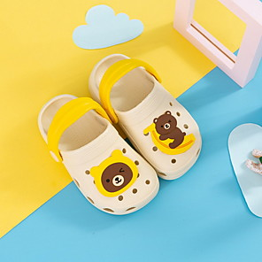 cheap Kids' Sandals-Girls' Sandals Comfort PVC Toddler(9m-4ys) Black / Yellow / Pink Spring