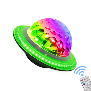 cheap Stage Lights-RGB Stage Light Big Magic Ball LED Colorful Rotating Crystal Magic Ball Light UFO Bluetooth Music Audio Light
