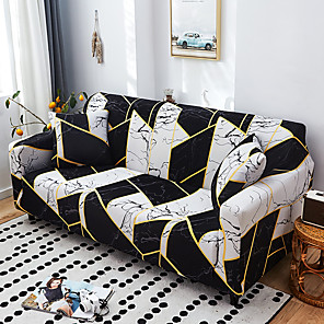 cheap Throw Pillow Covers-Nordic Geometric Contrast Elastic Sofa Cover Full Package Single Double Three Person Sofa Cover