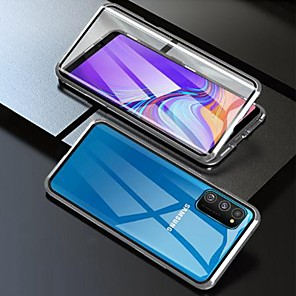 cheap Samsung Case-Magnetic Case For Samsung Galaxy A51 / M40S / A71 Double Sided Case Shockproof / Water Resistant / Transparent Tempered Glass / Metal Case For Galaxy A10S / A20S / Note 10 Plus / S10 Plus
