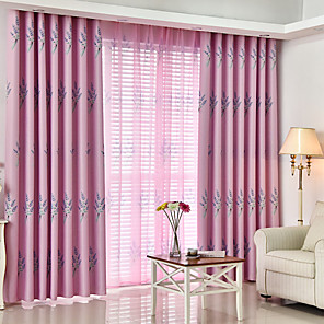 cheap Curtains Drapes-Gyrohome 1PC Imitation Lavender Shading High Blackout Curtain Drape Window Home Balcony Dec Children Door *Customizable* Living Room Bedroom Dining Room