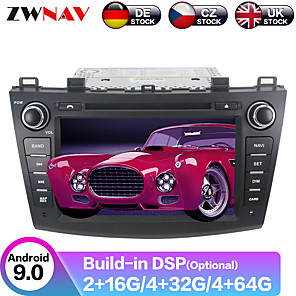 cheap Car DVD Players-ZWNAV 8inch 2din 4GB 64GB Android 9 Car GPS Navigation Car DVD Player auto stereo Car multimedia player radio tape recorder For Mazda3 Axela 2009-2012