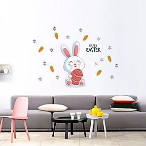 cheap Wall Stickers-Easter Bunny Decorative Wall Stickers - Plane Wall Stickers Holiday Indoor