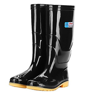cheap Other Phone Case-Men's PVC Spring & Summer Boots Waterproof Mid-Calf Boots Black