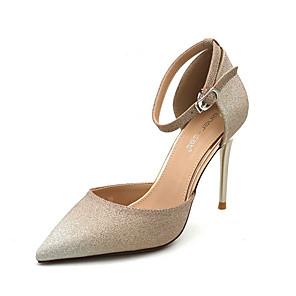 cheap Women's Heels-Women's Heels Stiletto Heel Pointed Toe PU Spring & Summer Gold / Silver