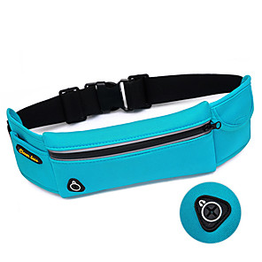 cheap Running Bags-Running Belt Fanny Pack Waist Bag / Waist pack <20 L for Mountain Bike / MTB Running Marathon Camping / Hiking Sports Bag Multifunctional Scratch-resistant Waterproof Zipper Terylene All Running Bag