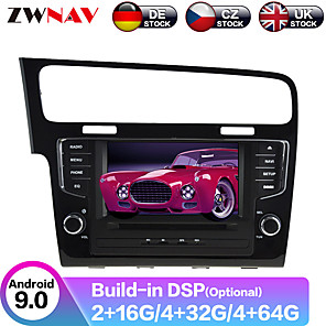 cheap Car DVD Players-ZWNAV 7inch 2din 4GB 64GB 2.5D Android 9.0 Car MP5 Player Car GPS navigation Car multimedia player auto radio tape recorder stereo For Volkswagen Golf 7 2013