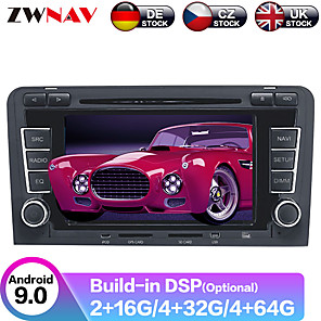 cheap Car DVD Players-ZWNAV Android 9.0 2DIN 4GB 64GB PX6 Car DVD player Car GPS Navigation car Multimedia Player Car MP5 Player Auto radio Stereo For Audi A3 S3 2003-2012