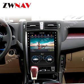 cheap Car DVD Players-ZWNAV 13.5Inch 1din 4GB 64GB Android 8.1 vertical screen DSP Car GPS Navigation car multimedia player Car MP5 Player radio tape recorder HD For TOYOTA CROWN 2008-2012