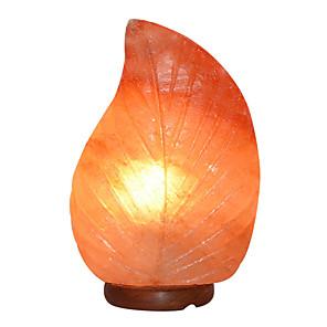cheap LED Smart Home-Himalayan Crystal Salt Lamp Leaf Shape Anion Table Lamp Night Light Warm White 1 pc
